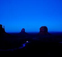 Blue night Twilight Monument Valley by Randy & Kay Branham