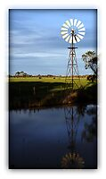 Windmill reflections by Jenni Tanner