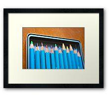 Pencil crayons Framed Print