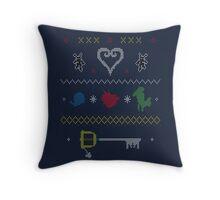 Kingdom Hearts Xmas Throw Pillow