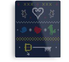 Kingdom Hearts Xmas Metal Print