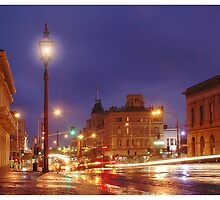 Lydiard St in the Rain by Evan Schoo