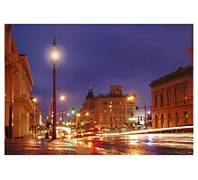 Lydiard St in the Rain Photographic Print