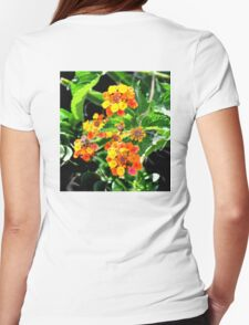 MULTI-COLORED LANTANA PLANT Womens Fitted T-Shirt
