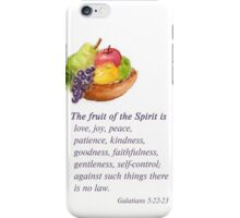 Healthy Fruit: Galatians 5:22-23 iPhone Case/Skin