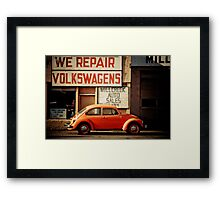 We Repair Volkswagens Framed Print