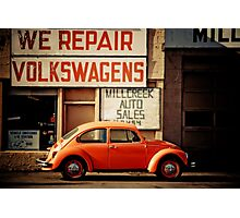 We Repair Volkswagens Photographic Print