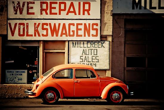 We Repair Volkswagens by Sam Scholes