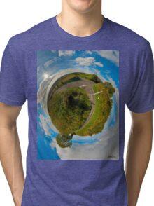 Country Roads - Killea Crossroads, Derry, N. Ireland Tri-blend T-Shirt