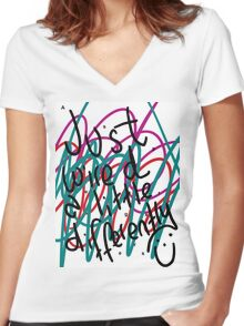 """Autism Aspergers Syndrome - """"Just wired a little differently"""" Women's Fitted V-Neck T-Shirt"""