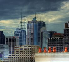Gotham City - Rooftop View CBD of Sydney, Australia by Mark Richards