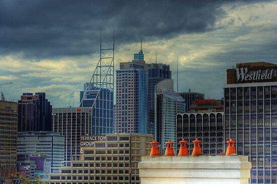 Gotham City - Rooftop View CBD of Sydney, Australia by Mark Richards