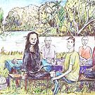 Picnic at Busbys Pond by John Douglas