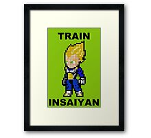 Super Saiyan Vegeta 8MB - Train Insaiyan Framed Print