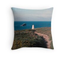 Cliffs above Portreath Throw Pillow