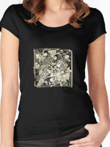grunge flowers Women's Fitted Scoop T-Shirt