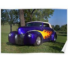 1939 Ford Convertible Custom Hot Rod Poster