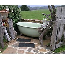 a tub with a view Photographic Print