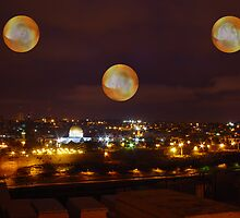 Angels above Jerusalem by Moshe Cohen