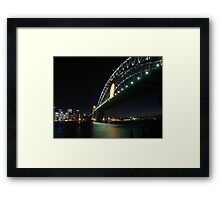 Rugby Union World Cup Harbour Bridge Framed Print