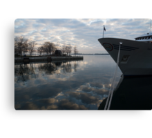 Serene Morning at the Harbor Canvas Print