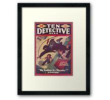 Ten Detective Aces - February 1944 Framed Print