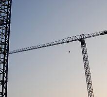 Construction Cranes by Robert Baker