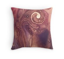 BOTANICAL ABSTRACT NOUVEAU COLLECTION ~ RISING STORM Throw Pillow
