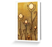 ABSTRACT BOTANICAL NOUVEAU COLLECTION ~ GOLD TULIPS Greeting Card