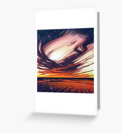 Desert Fire Greeting Card