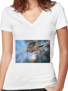 The Great Escape Women's Fitted V-Neck T-Shirt