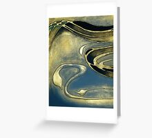 ABSTRACT NOUVEAU COLLECTION ~ AZURE STORM Greeting Card