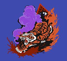Eye Of The Tiger Pillow: by Cloud-Drawings