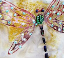BEADED DRAGONFLY QUILT DETAIL Sticker