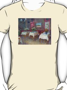 'Interior of a Restaurant' by Vincent Van Gogh (Reproduction) T-Shirt