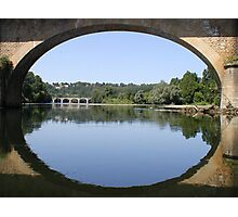 Road bridge over the Dordogne Photographic Print
