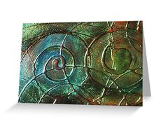 ABSTRACT FLUID TEXTURE ~ OCEANIC Greeting Card