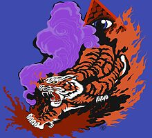 Tablet Cases, Eye Of The Tiger: by Cloud-Drawings
