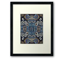 Do What You Love What You Do Daisies Inspirational Quote Framed Print