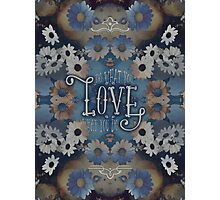 Do What You Love What You Do Daisies Inspirational Quote Photographic Print