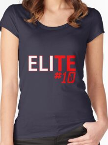 Eli Manning Elite #10 - Giants Women's Fitted Scoop T-Shirt