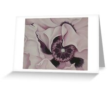 GHOST POPPY ~ OIL ON CANVAS Greeting Card