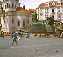 In the Centre, Prague by Priscilla Turner