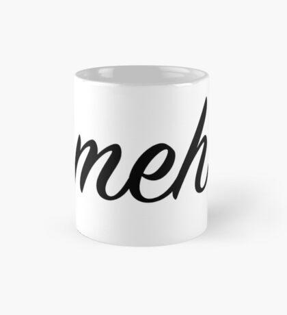The Cursive Meh Mug (white mug) Mug