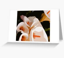 CALLA LILIES ~ OIL ON CANVAS ~  Greeting Card