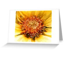 SUN DAHLIA & RIVER ~ ACRYLIC ON CANVAS Greeting Card