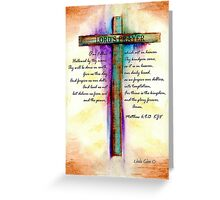 The Lord's Prayer Cross Greeting Card