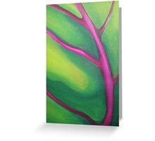 TROPICAL PALM LEAF ~ ABSTRACTED ~ OIL ON CANVAS Greeting Card