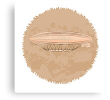 Airship on a beige background Canvas Print