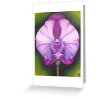 PURPLE ORCHID ~ OIL ON CANVAS  Greeting Card